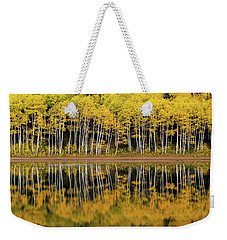 Weekender Tote Bag featuring the photograph Forest Lake Reflection by Dustin LeFevre