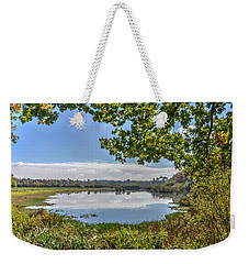 Forest Lake Through The Trees Weekender Tote Bag