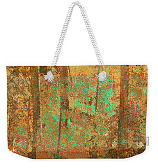 Weekender Tote Bag featuring the photograph Forest Morning Light Brown by Suzanne Powers
