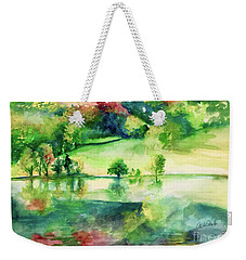 Weekender Tote Bag featuring the painting Forest Of Dreams by Allison Ashton
