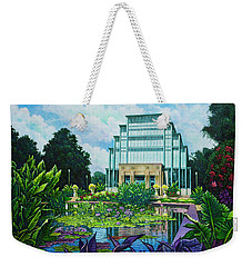 Weekender Tote Bag featuring the painting Forest Park Jewel Box by Michael Frank