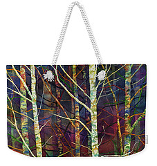 Weekender Tote Bag featuring the painting Forest Rhythm by Hailey E Herrera