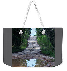 Forest Road And Puddle Weekender Tote Bag