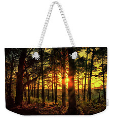 Forest Sunset Weekender Tote Bag