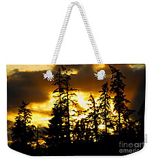 Weekender Tote Bag featuring the photograph Forest Sunset  by Nick Gustafson