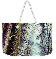 Weekender Tote Bag featuring the painting Forest Talk by Allison Ashton