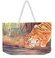 Forest Tiger Weekender Tote Bag by Elizabeth Lock