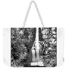 Forest Waterfall In Bw Weekender Tote Bag