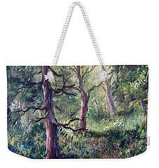 Forest Wildflowers Weekender Tote Bag by Megan Walsh