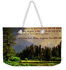 Forests In My Heart Weekender Tote Bag