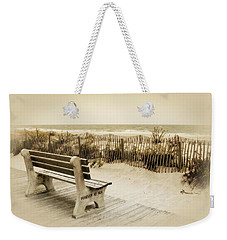 Weekender Tote Bag featuring the photograph Forever At Sea - Jersey Shore by Angie Tirado