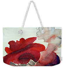 Weekender Tote Bag featuring the painting Forever by Jasna Dragun