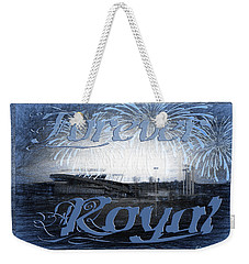 Weekender Tote Bag featuring the photograph Forever Royal by Andee Design