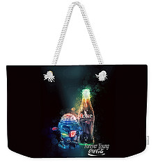 Weekender Tote Bag featuring the photograph Forever Young Coca-cola by James Sage