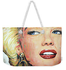 Forever Young - Marilyn Monroe Portrait Face Art Painting Weekender Tote Bag