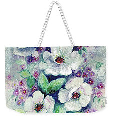 Forget-me-knots And Roses Weekender Tote Bag