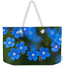 Forget-me-not Weekender Tote Bag by Arlene Carmel