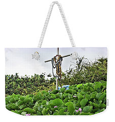 Weekender Tote Bag featuring the photograph Forget Me Not by DJ Florek