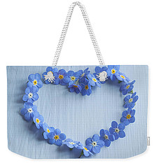 Forget Me Not Heart Weekender Tote Bag