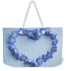 Forget Me Not Heart Weekender Tote Bag
