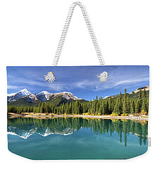Forget Me Not Pond Panorama Weekender Tote Bag