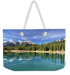 Forget Me Not Pond Panorama Weekender Tote Bag