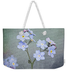 Forget Me Not Weekender Tote Bag by Liz Alderdice