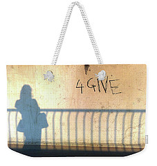 Weekender Tote Bag featuring the photograph Forgiveness by Evelyn Tambour
