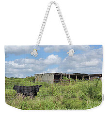 Weekender Tote Bag featuring the photograph Forgotten Barn In Osage County by Janette Boyd