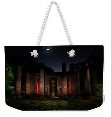 Weekender Tote Bag featuring the photograph Forgotten Gods by Mark Andrew Thomas