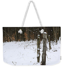 Weekender Tote Bag featuring the photograph Forgotten Posts by Rick Morgan