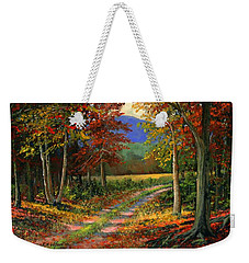 Weekender Tote Bag featuring the painting Forgotten Road by Frank Wilson