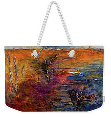 Weekender Tote Bag featuring the painting Forgotten Shore by John Stuart Webbstock