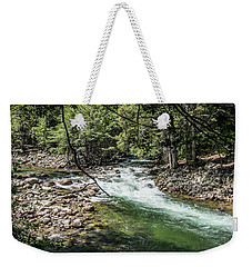 Weekender Tote Bag featuring the photograph Fork In The Road- by JD Mims