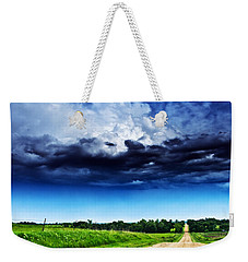 Forming Clouds Over Gravel Weekender Tote Bag