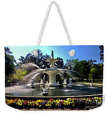 Forsyth Fountain In Spring Weekender Tote Bag