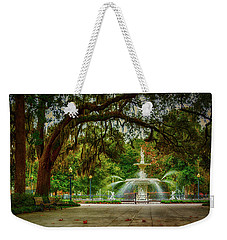 Forsyth Park Fountain Weekender Tote Bag