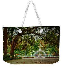 Forsyth Park Fountain Weekender Tote Bag