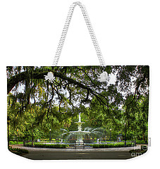 Forsyth Park Fountain Historic Savannah Georgia Weekender Tote Bag by Reid Callaway