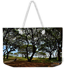 Fort Fisher Beach Trees  Weekender Tote Bag