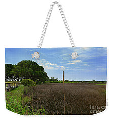 Fort Fisher Grass Meadow Weekender Tote Bag
