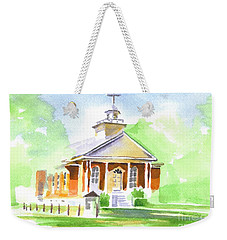 Weekender Tote Bag featuring the painting Fort Hill Methodist Church 2 by Kip DeVore