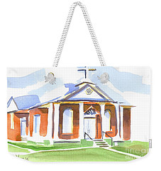 Weekender Tote Bag featuring the painting Fort Hill Methodist Church by Kip DeVore