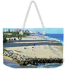 Weekender Tote Bag featuring the photograph Fort Lauderdale Beach Park by Kirsten Giving