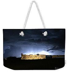 Lightening At Castillo De San Marco Weekender Tote Bag by LeeAnn Kendall