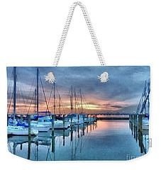 Fort Monroe Afire Weekender Tote Bag by Linda Mesibov