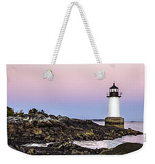 Fort Pickering Lighthouse, Harvest Supermoon, Salem, Ma Weekender Tote Bag