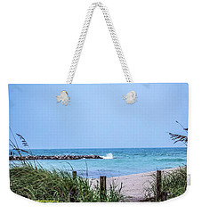 Fort Pierce Inlet Weekender Tote Bag by Nance Larson