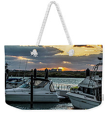 Fort Pierce Marina Weekender Tote Bag by Nance Larson