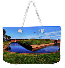 Fort Pulaski Moat - Demilune Wall 001 Weekender Tote Bag by George Bostian